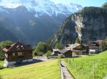 Looking back on Gimmelwald, on my way to Mürren