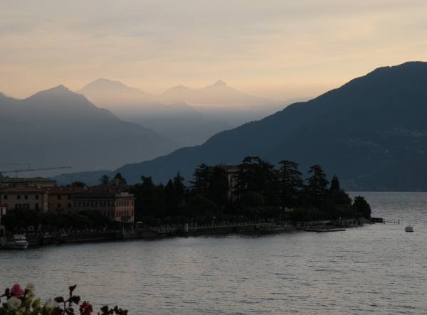 View of Menaggio & Lake Como from the porch of the hostel