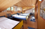 A dorm room in the Mondsee hostel
